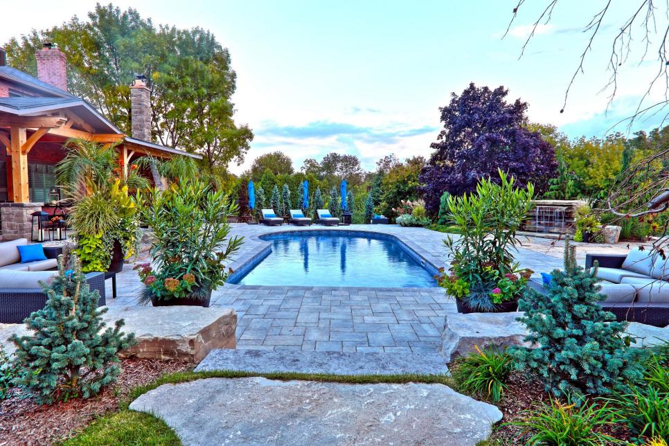 pool landscaping ideas rock steady CWIXLCX
