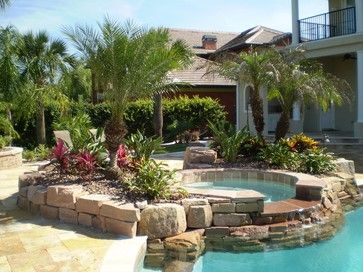 pool landscaping ideas tropical pool landscaping | south