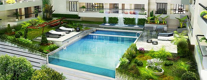 pool type roof garden FURQERN