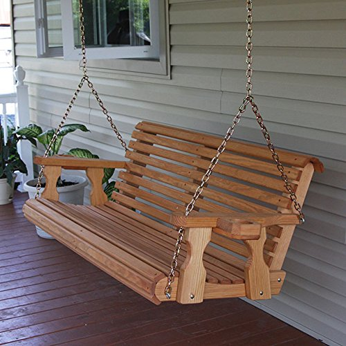 porch swings amish heavy duty 800 lb roll back 4ft. treated porch swing with QQYMXAW
