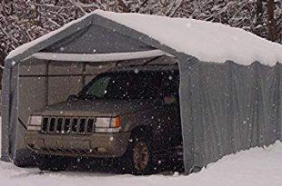 portable carports | instant garages | vehicle shelters (gray, house  12wx20lx8h) FWSEBMX