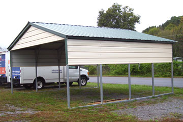 portable carports steel carport with half walls and gable YCQRPNF