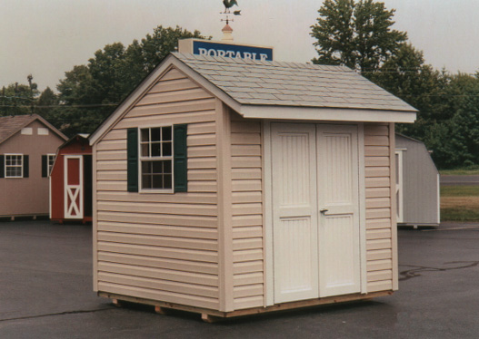 portable shed 8u2032 x 8u2032 salt box style shed (sb-7) VWXZRIP