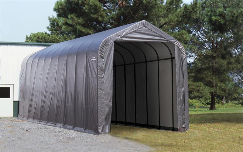 portable shed shelterlogic peak frame portable storage shed 16x40x16 |  storageshedsoutlet.com UJKVWSG