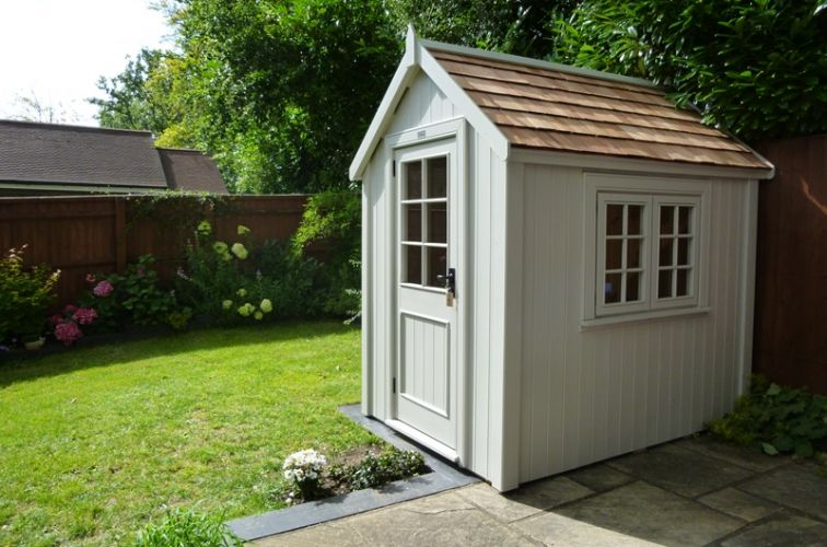 posh sheds ... potting shed finished in posh elephant ... IBQUVJK