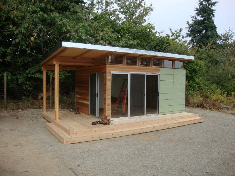 prefab sheds modern-shed pre-fab shed kit: 12u0027 x 16u0027 coastal - prefab shed kits GXNQGYK