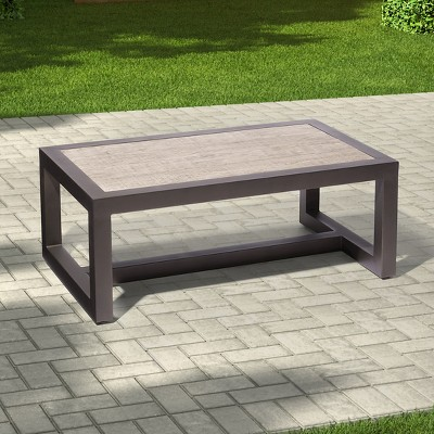 premium edgewood metal patio coffee table - smith u0026 hawken™ : target UUEOWTU