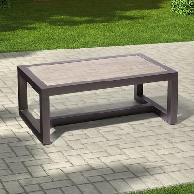 premium edgewood metal patio coffee table - smith u0026 hawken™ : target UUEOWTU