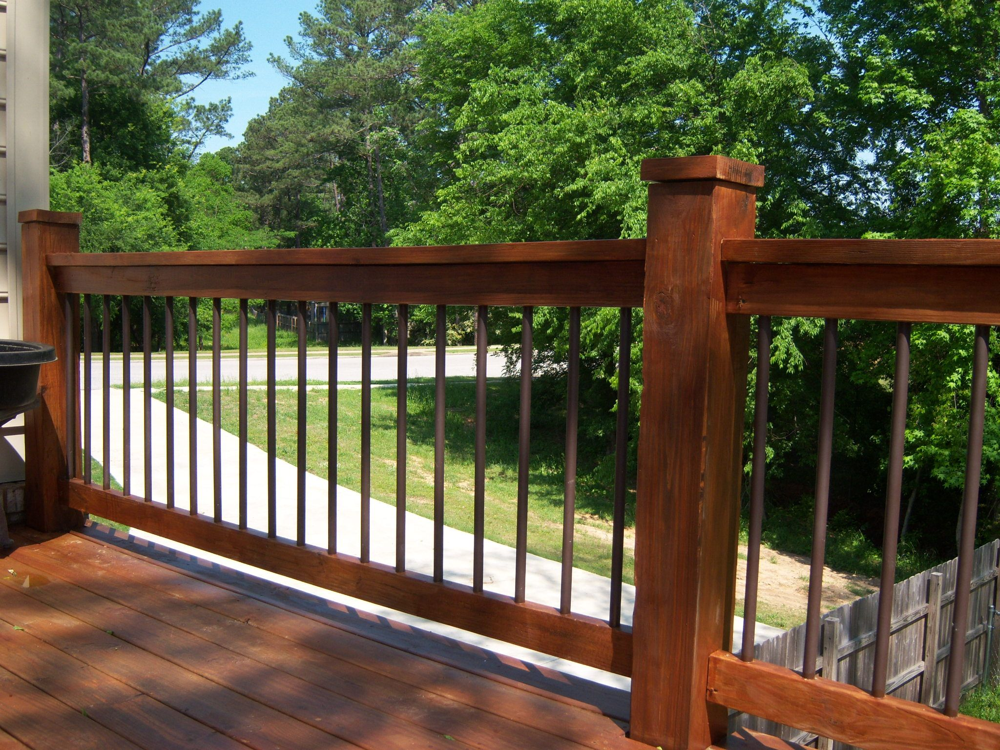 pvc deck spindles. something i come up with once i quoted the GFOSMOL