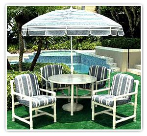 pvc patio furniture complete sets of furniture AMOSZHB