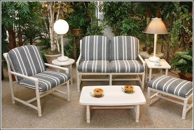 pvc patio furniture pipe collection - chair u0026 loveseat TZPWXDD
