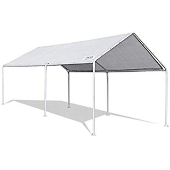 quictent 20u0027x10u0027 upgraded heavy duty carport car canopy party tent (10x20) AEOCQKB