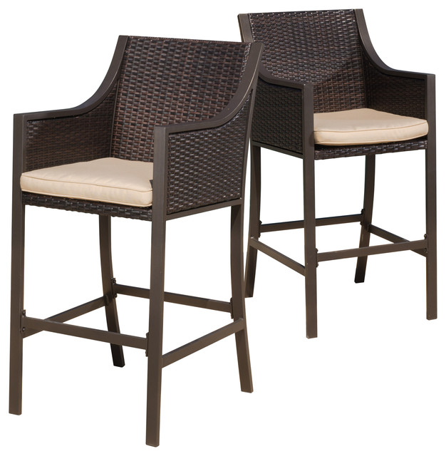 rani brown outdoor bar stools, set of 2 TZYPGQP