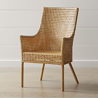 rattan furniture maluku natural rattan dining arm chair IOTESGK