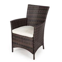 rattan garden chairs greenfingers moncafa rattan armchair - brown/black BLUGDGN