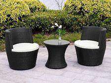 rattan garden chairs rattan garden furniture vase set wicker 3pc patio chairs coffee table LBOPSLD