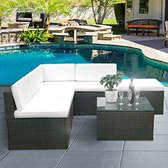 rattan outdoor furniture yakoe 4-piece rattan garden furniture sofa set table and chairs | rattan XJAWRNM