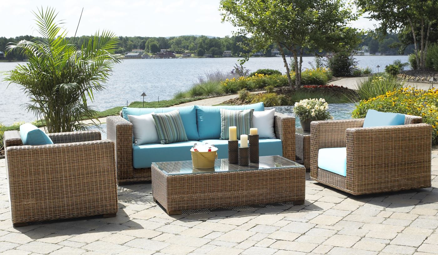 rattan patio furniture outdoor patio wicker furniture | santa barbara ZKMEBPE