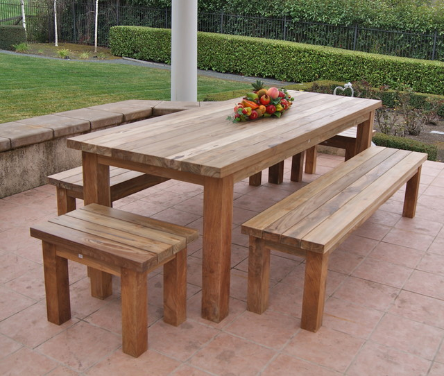 reclaimed, recycled teak patio furniture rustic-patio IGAPKVT