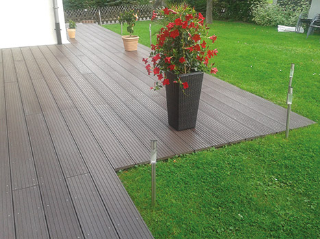 recycled plastic decking. trade prices available SILBHDJ
