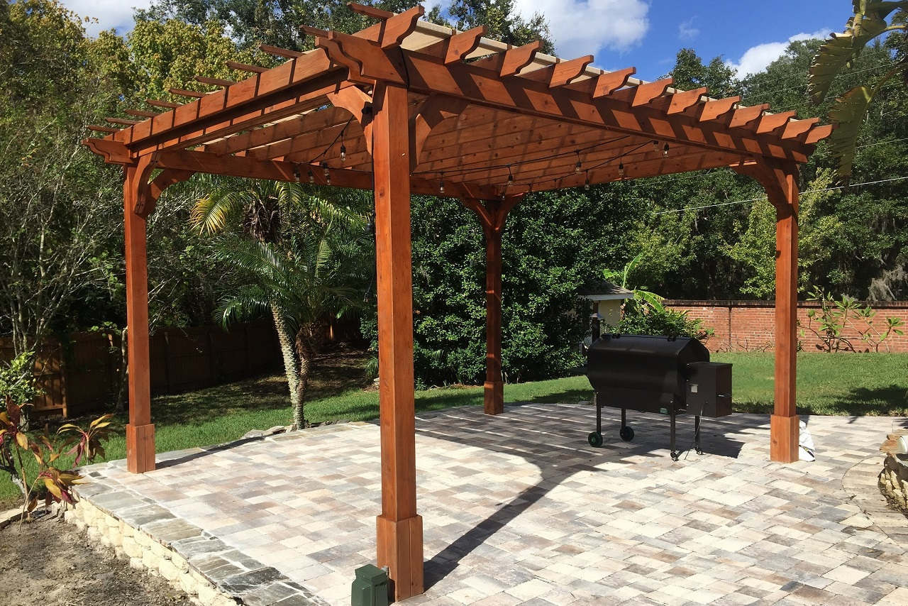 red cedar pergola kits | ready to assemble | all sizes ZZWMIOX