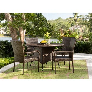 resin patio furniture bexton 5 piece dining set RDYJHZU