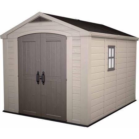 resin storage sheds keter factor 8u0027 x 11u0027 resin storage shed; all weather plastic outdoor EBKOXYQ