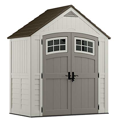 resin storage sheds suncast bms7400 cascade blow molded resin storage shed HWCSZPV