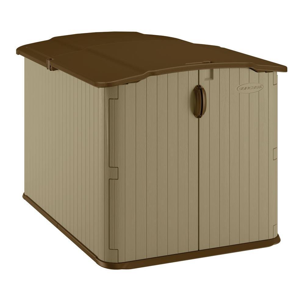 resin storage sheds suncast glidetop 6 ft. 8 in. x 4 ft. 10 in. resin DENVDSF