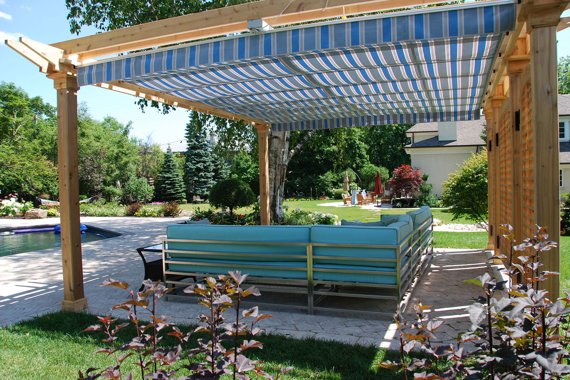 retractable pergola canopy in oakville | shadefx canopies FSQJWAW