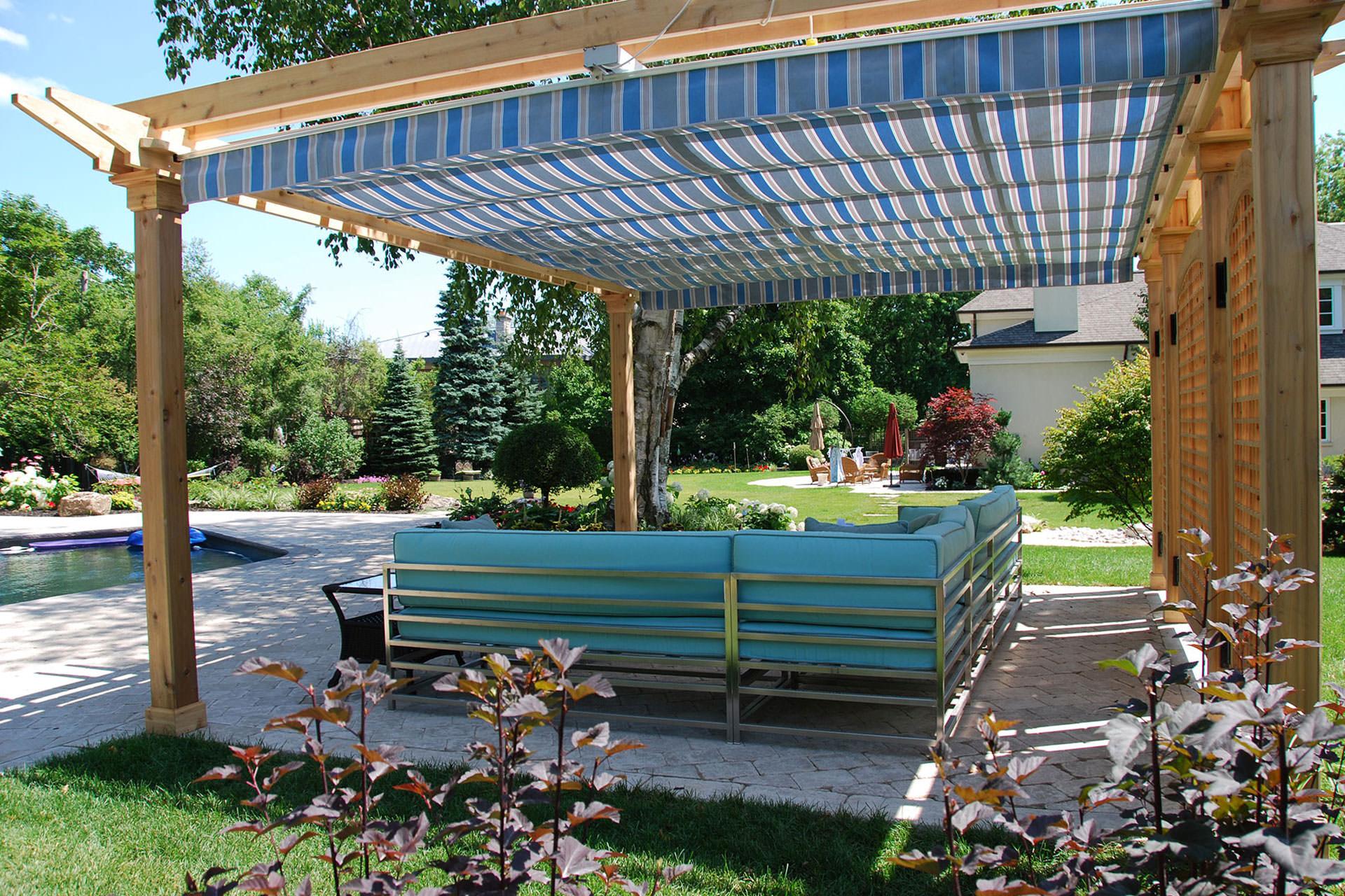 retractable pergola canopy in oakville | shadefx canopies FSQJWAW