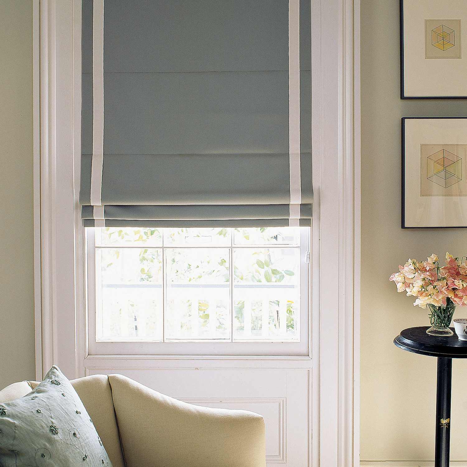 roman curtains make your own roman shades | martha stewart YLNNVZM
