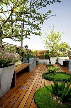 roof garden design roof garden with full deck LERVONA