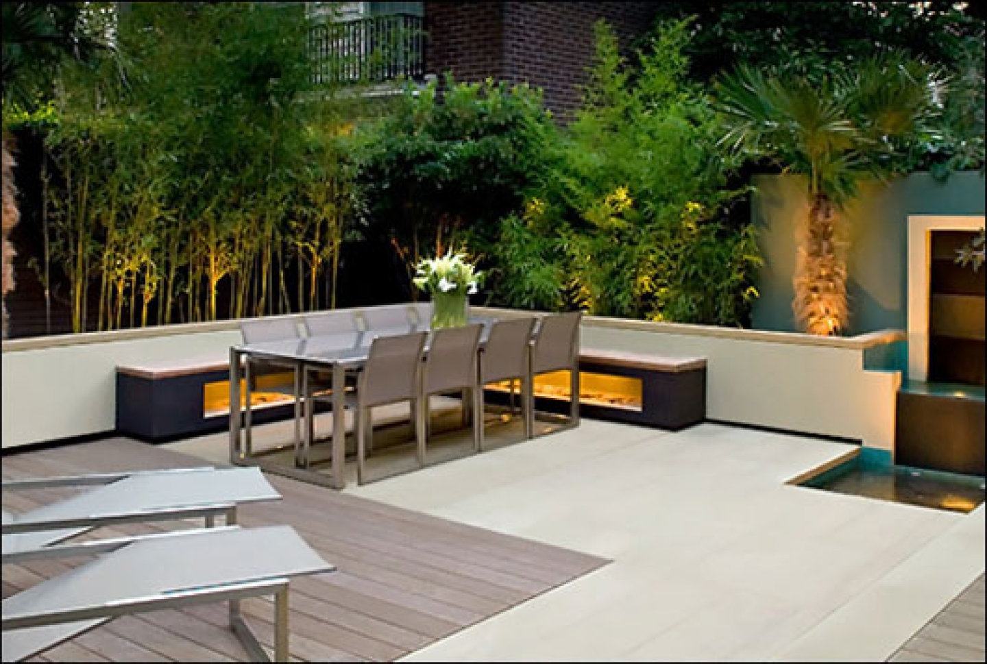 roof garden design rooftop garden design ideas with metal outdoor furniture and a nice LWJLHHX