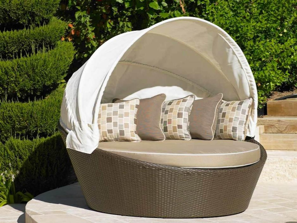 round outdoor daybed with canopy KFNQVJP