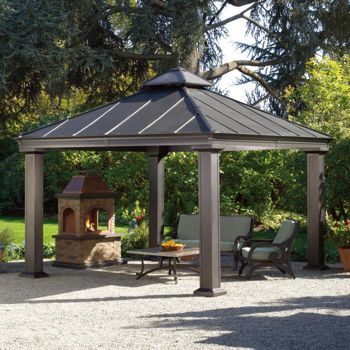 royal square hardtop gazebo. metal roof. costco $1700