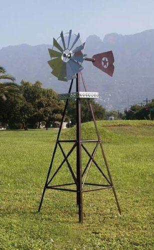 rustic garden windmill by online discount mart. $129.95. rural  flavorgalvanized steel6 DQBVVHG