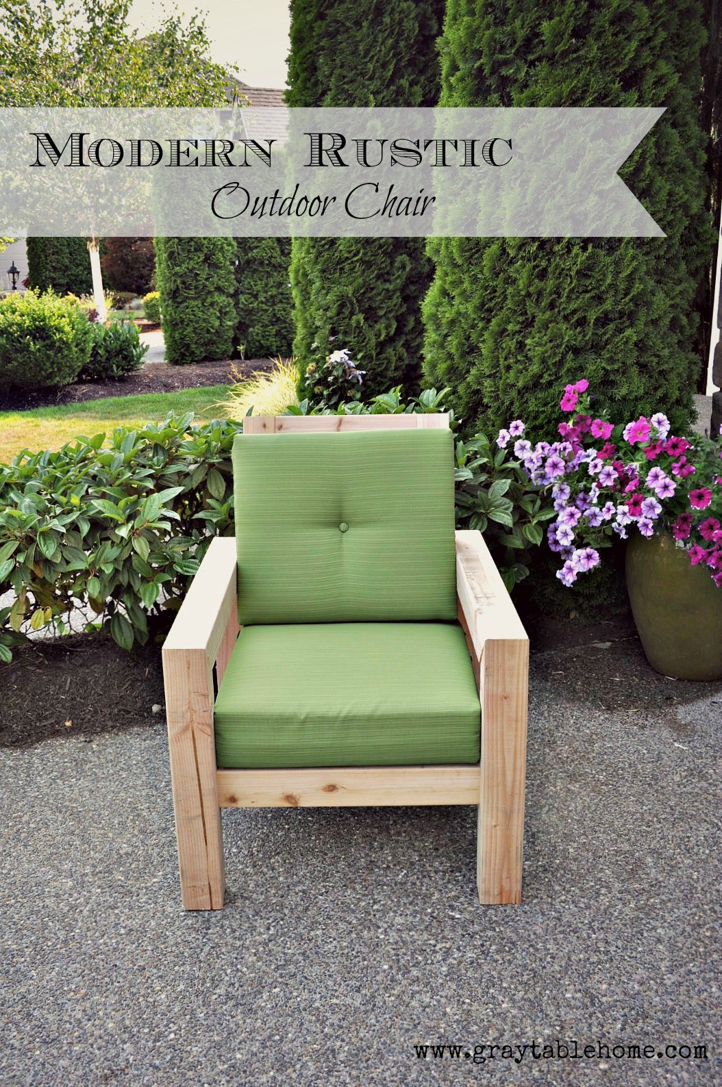 rustic outdoor furniture diy modern rustic outdoor chair RIPENDI