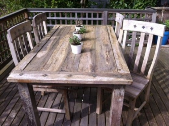 rustic outdoor furniture latest rustic outdoor table and chairs 57 cozy rustic patio designs digsdigs ACHYJVV