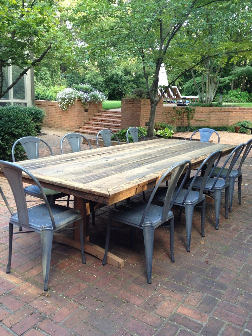 rustic outdoor furniture outdoor, patio rustic farm tables-weu0027ll make you one! i think this is TEIOYIY