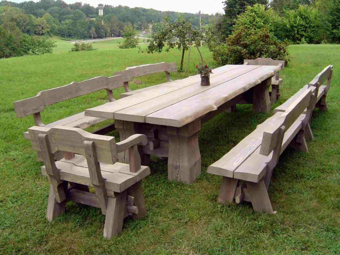 rustic outdoor furniture rustic garden furniture - 4 AYVJWVL