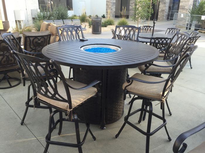 san marcos 7 piece bar height patio set with fire pit 60 PZSYEEH