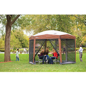 screened canopy image is loading hex-instant-screened-canopy -gazebo-backyard-outdoor-camping- OIFONQZ