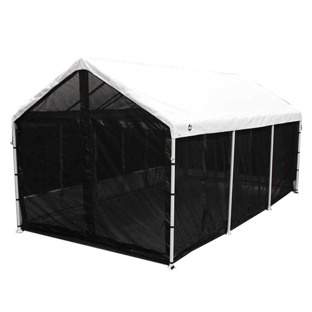 screened canopy king canopy bug screen room with floor UATMDMY