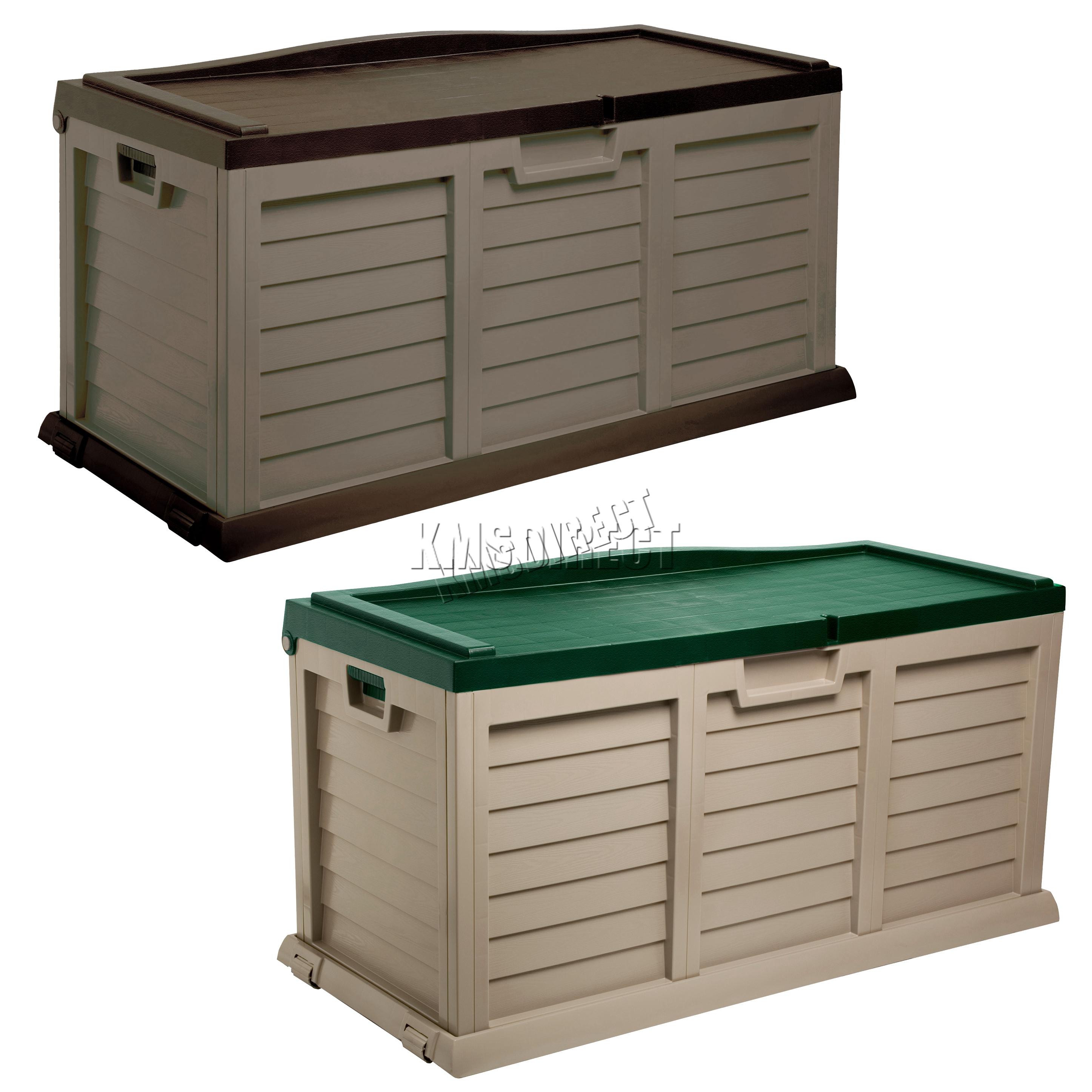 sentinel starplast outdoor garden storage utility chest cushion box case  440l UUHMMRP