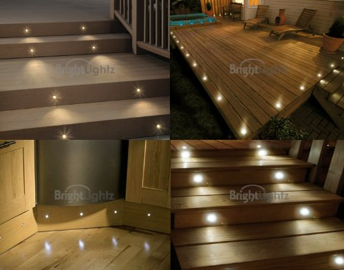 set of 10 waterproof led warm white deck lights / decking / YCGCADT