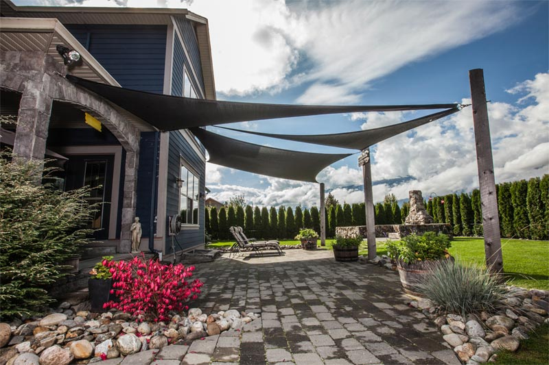 shade sails can be used in combination to create intricate shade solutions YARMDVH
