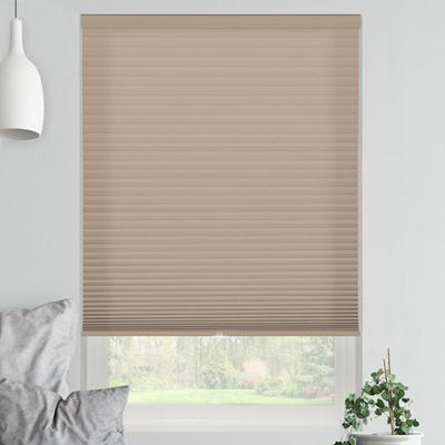 signature light filtering cordless cellular shades. taupe 9151