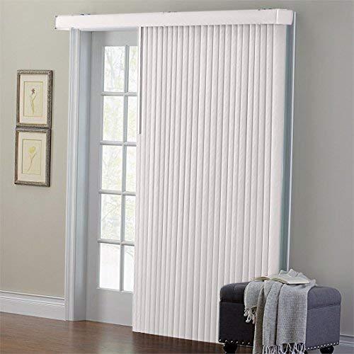 sliding door blinds brylanehome embossed vertical blinds (putty,78 XIRINQO