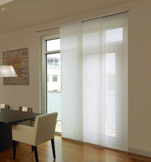 sliding door blinds levolor® panel track blinds: designer textures light filtering UTLHDKX